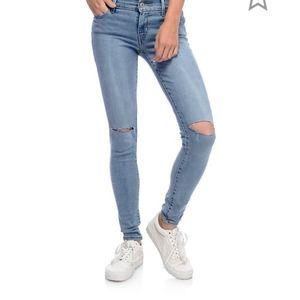 Levi's 710 Super Skinny Destroyed Jeans